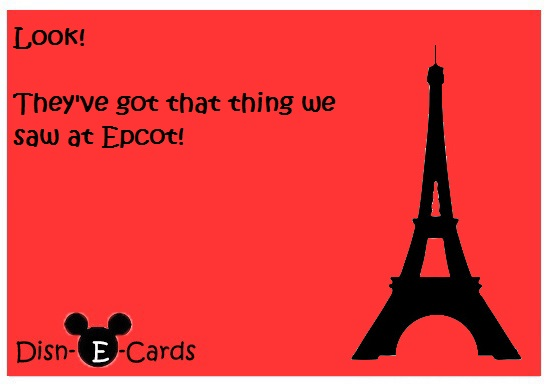 Eiffel Tower Epcot Disney E-card