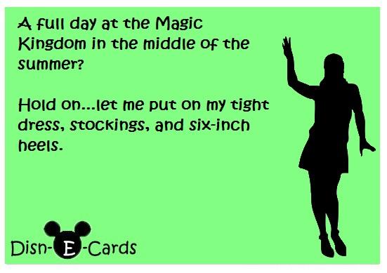 DisnEcards Magic Kingdom dress