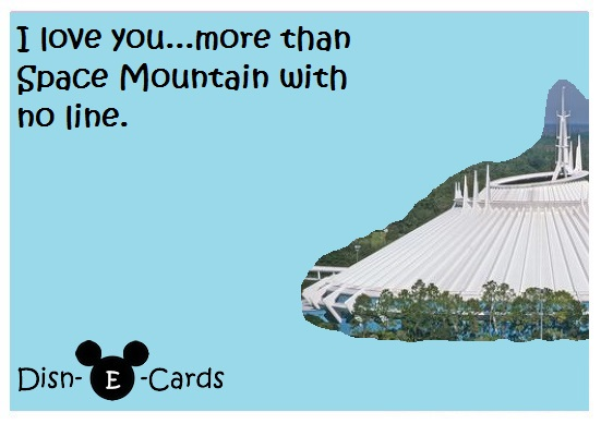 Space Mountain Disney E-Cards