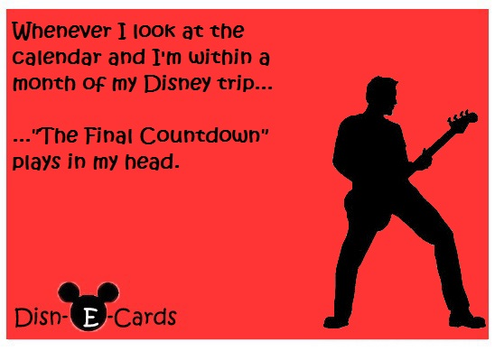 The Final Countdown Disney E-Cards