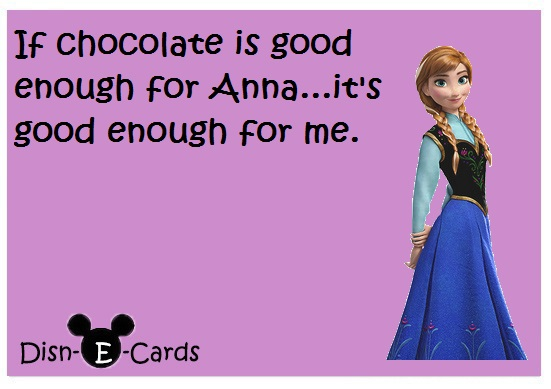 Anna Chocolate Disney E-Card Frozen