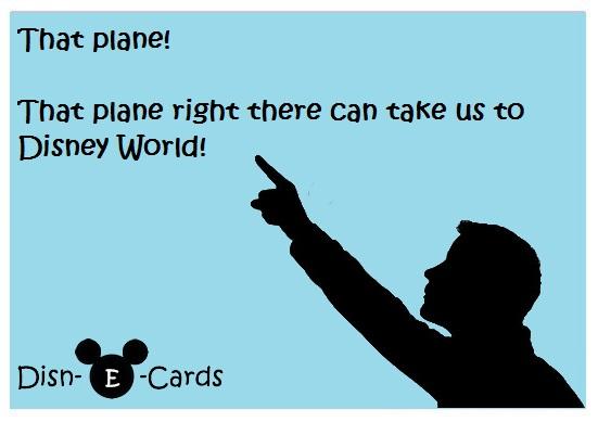 Disney E-Cards Plane
