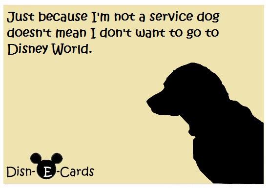 Disney E-Card Service Dog